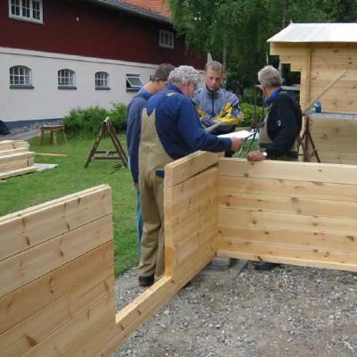 Opførelse af træhus - samarbejde om byggeriet