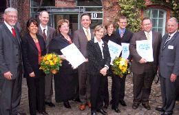Gewinner, Veranstalter und Sponsoren des GründerCups in der KERN-Region 2005